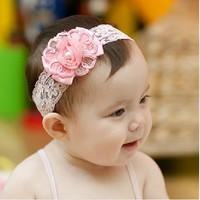 Baby Girl's Lovely Pearl flower baby Headband Headwear Hair Accessories Infant Hair Band-16