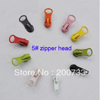 Free shipping 5# colorful metal zipper sliders garment and bags accessories 20pcs/lot