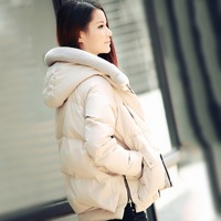 Hot Sales 2013 winter down coat female short design thickening down coat female tooling down coat, free shipping