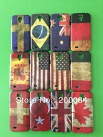 DHLSHIP 50pcs hard cases for samsung galaxy s4 siv i9500 mobile phone bag case National flags plastic cover fundas