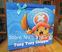 E5 Big SizeJanpanese Anime One Piece Chopper Shopping paper bag with handle Fashionable gift bag/Wholesale
