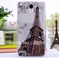 Paris Eiffel Tower Painting Series Printed Printing Color Plastic Case For Lenovo S890 Skin Cover