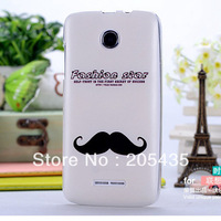 Moustache Painting Series Printed Printing Color Plastic Case For Lenovo A390T Skin Cover
