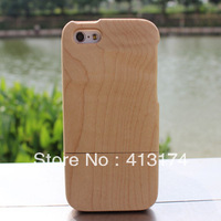 New Hot Sale Bamboo wood case cover for iPhone 5c ( Maple ) + 1piece film screen protector = 2pieces/lot