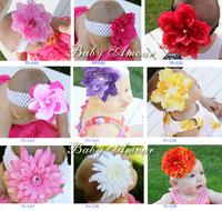 Baby Girl's Lovely PVC big flower baby Headband Headwear  Hair Accessories Infant Hair Band 31