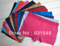 free shipping top sale Seamless high elastic and comfortable silky pure color  Boxer Shorts briefs