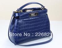 Brand FEN*I designer handbag genuine leather cowhide high quality women messenger bags Crocodile Grain fashion shoulder bag tote