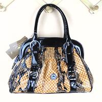 2013 autumn and winter fashion women's handbag bag crocodile skin bags high quality portable one shoulder patent leather bag