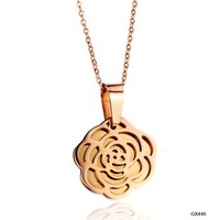 Jewelry rose gold pendant glowed women's Women titanium steel necklace  1 pieces