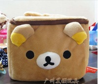 cosmetic bag stuffed teddy bear cute Rilakkuma Cartoon storage bag ladies handbag hot selling 2013 new