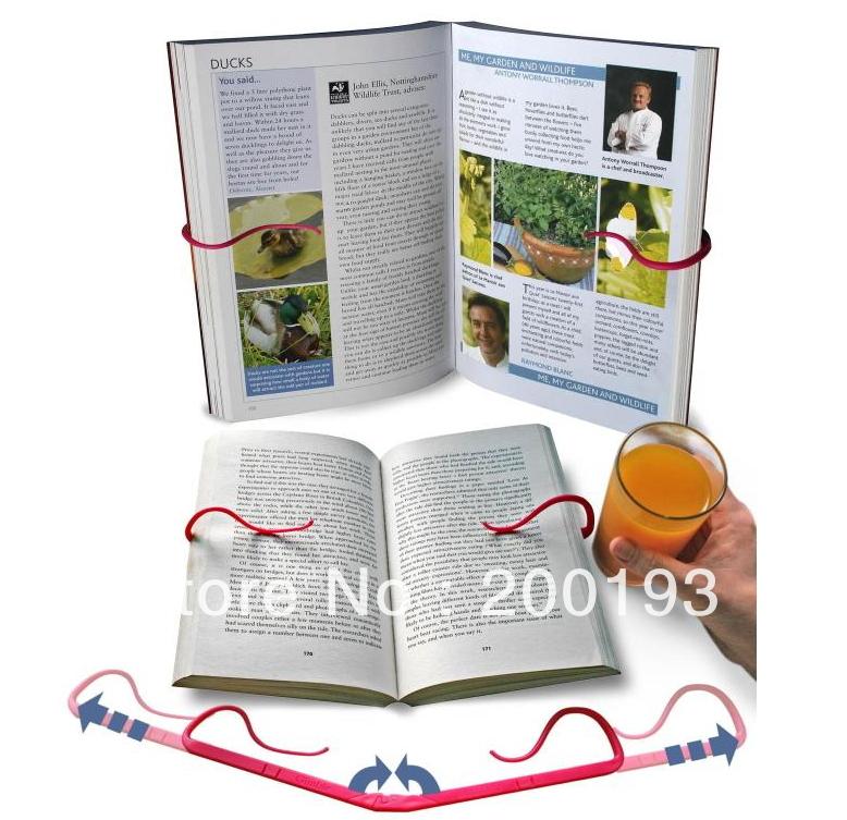 SMILE MARKET Free Shipping 2pcs/lot Gimble Creative Look bookshelf Reading Folder Read Bookend(China (Mainland))