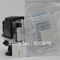 Free Shipping 12 PCS Anti-Fog Inserts for GoPro HD Hero1 Hero2 Hero3 hero3+ ,PU-Antifog01-White Gopro accessories