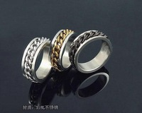 Jewelry rotate chain three-color titanium ring the temptation to male finger ring male ring  1 pieces