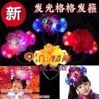 10PCS  Flashing child hair clips luminous hair bands costume hair accessory