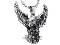 Titanium steel necklace fashion personality skyhawk male necklace eagle pendant  1 pieces
