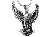 Titanium steel necklace fashion personality skyhawk male necklace eagle pendant  1 pieces