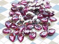 free shipping 500 pcs of 10x14mm purple teardrop crylic Crystal Cabochon,End of teardrop optical.teardrop diamond