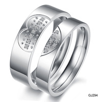 Fashion jewelry couple rings titanium steel trade jewelry diamond ring on the ring C294
