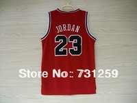 Chicago #23   Black White Red Basketball Jersey Fabrics   Free  Shipping