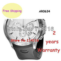 New Quartz Men's Watch Quality AR0634 0634 Rubber Strap Gents Wristwatch + Original Box + Certificate + Manual