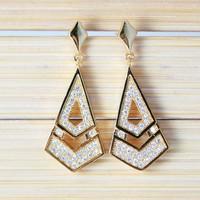 Wholesale Zirconia Crystal Drop Earrings 2014 Fashion Women's Jewellery Vintage Earring With Silver -Plated