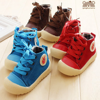 3511 2013 soft outsole children shoes male girls shoes canvas shoes baby child skateboarding shoes thickening cotton-made shoes