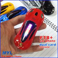2013 New!Luxury Mini Car Key Phone F18+ Mobile Phone LED Lights Dual sim card Phone, Luxury  Car Phone, free shipping