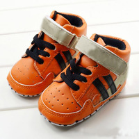 Fashion High Top Baby Orange Sneakers,Baby Boy Prewalker Shoes,Baby Sapatos For First Walkers Age 0-6,6-12,12-18 Month R1010