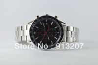 The new stainless steel mechanical watches popular men's watches transparent back