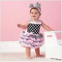 2013 free shipment Retail Ruffle Sundress Fashion Baby Dress Baby Clothes