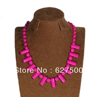 Wholesale 2014 New Neon Shourouk Necklaces Fashion Punk Choker Necklaces Ethnic Statement Necklace Resin Jewellery For Women