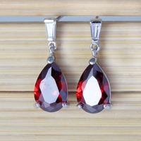 Wholesale Teardrop Dangle Drop Earrings Cubic Zirconia Earrings Brand Jewelry For Women 18K Gold Plated Silver Earrings Fashion