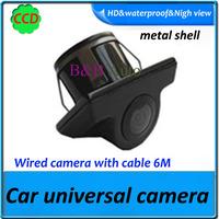 CCD HD color night vision waterproof universal car camera for all car waterproof 1090k night version