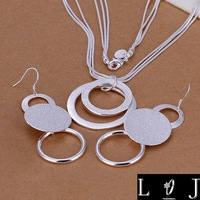 New! Fashion 925 sterling silver Jewelry Set for women / Wedding / african double Sand O piece