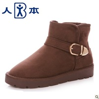 Double 11 female snow boots flat velvet thermal casual boots 805a