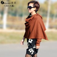 Autumn new arrival 2013 fashion personality elegant women's quality woolen cape outerwear female