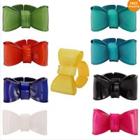 Good quality lovely acrylic bow rings for girls customized wholesale lot Free shipping