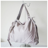 A98(purple) ,,2014 fashion ladys handbag,43x23cm,PU,6 different colors,two function,Free shipping
