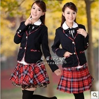 School uniform set preppystyle blazer class service student uniform women skirt
