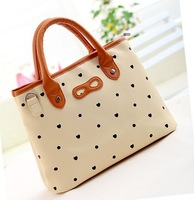 Free shipping   Brown Mini Cute PU leather Lady Shoulder/Handbag/ Women Girls Leather Bag