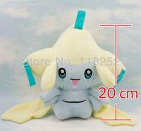 Best Selling 7.9 inch Japanese Cartoon Anime Pokemon Jirachi Baby Animal Stuffed Plush Doll Child Toy For Gift Free Shipping