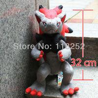 Best Selling 12.6 inch Japanese Cartoon Anime Pokemon Zoroark Baby Animal Stuffed Plush Doll Child Toy For Gift Free Shipping