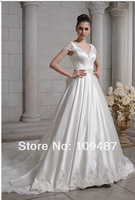 2014 latest big long tail of high-end custom wedding dress