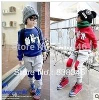 New Style Boy Sport Wear Baby Clothing Set Boys Sport Suit Fashion Two-Piece Baby Garment Scissors Stone Cloth Sets ,(1sets/lot
