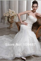 Lace custom-made wedding dress trailing file