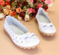 Love Mama Euro size35-40 genuine leather women sandals ladies summer shoes women's shoes bowknots bowties ballet dance loafer