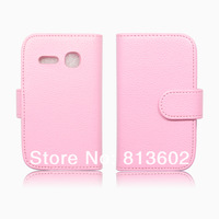 Luxury Classic Wallet Purse Lichee Pu Leather Book Case For ALCATEL ONE TOUCH S'POP OT-4030 4030D Credit Card Cover