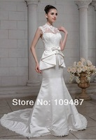 Small waist trailing fishtail wedding dress custom file