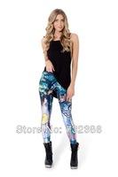2014 New brand black milk for women's cat Watercolor 3D print leggings spring autumn fitness galaxy pencil disco pants printer