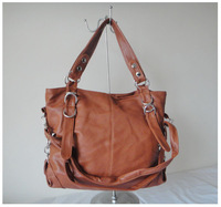 A101(brown) wholesale popular bag,,fashion ladys handbag,42x25cm,PU,7 different colors,two function,Free shipping